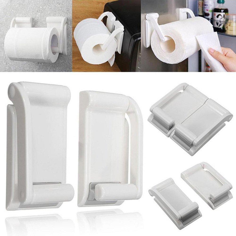 Blanco r/ústico soporte de papel higi/énico montado en la pared accesorios de ba/ño vintage OROPY Portarrollos para papel higi/énico industrial con estante