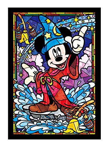 Tenyo Mickey Mouse Stained Glass Gyutto Size Series Jigsaw Puzzle (266 Piece) -