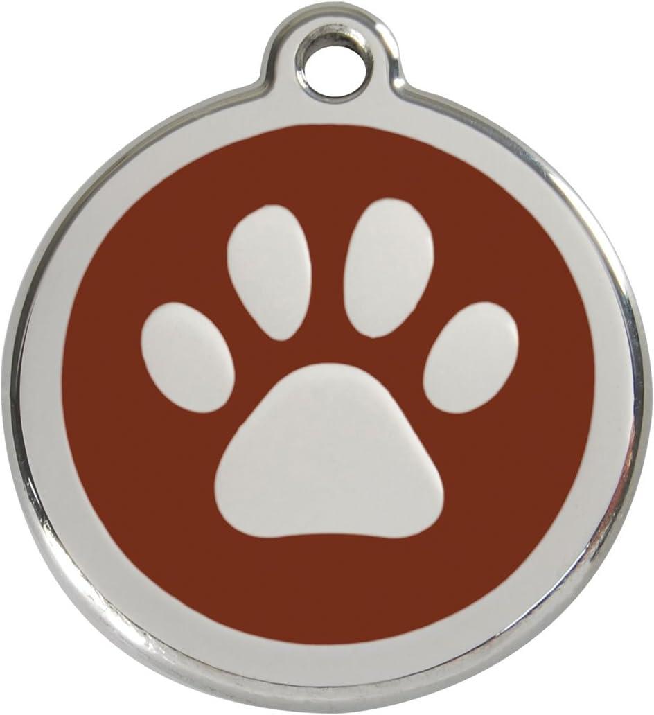Red Dingo Hundehalsband,/ /Pfote/ /Tag/ /30/mm/ /braun