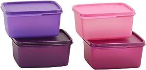 Tupperware Keep Tab Plastic Container Set Medium 1.2 Liter (Set of 4)