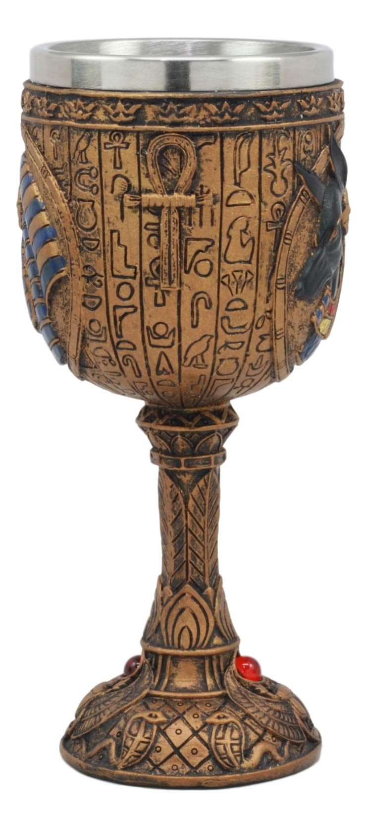 Ebros Egyptian Anubis Wine Goblet God Of The Dead And Afterlife Anubis Wine Chalice 6oz by Ebros Gift (Image #2)