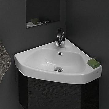 Cerastyle 001900 U One Hole Arda Corner Ceramic Self Rimming Wall Mounted Bathroom Sink White Amazon Com