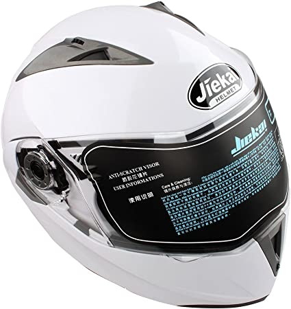 Motorrad Antibeschlag Doppel Sonnenblende Integral Klapphelm Schutzhelm