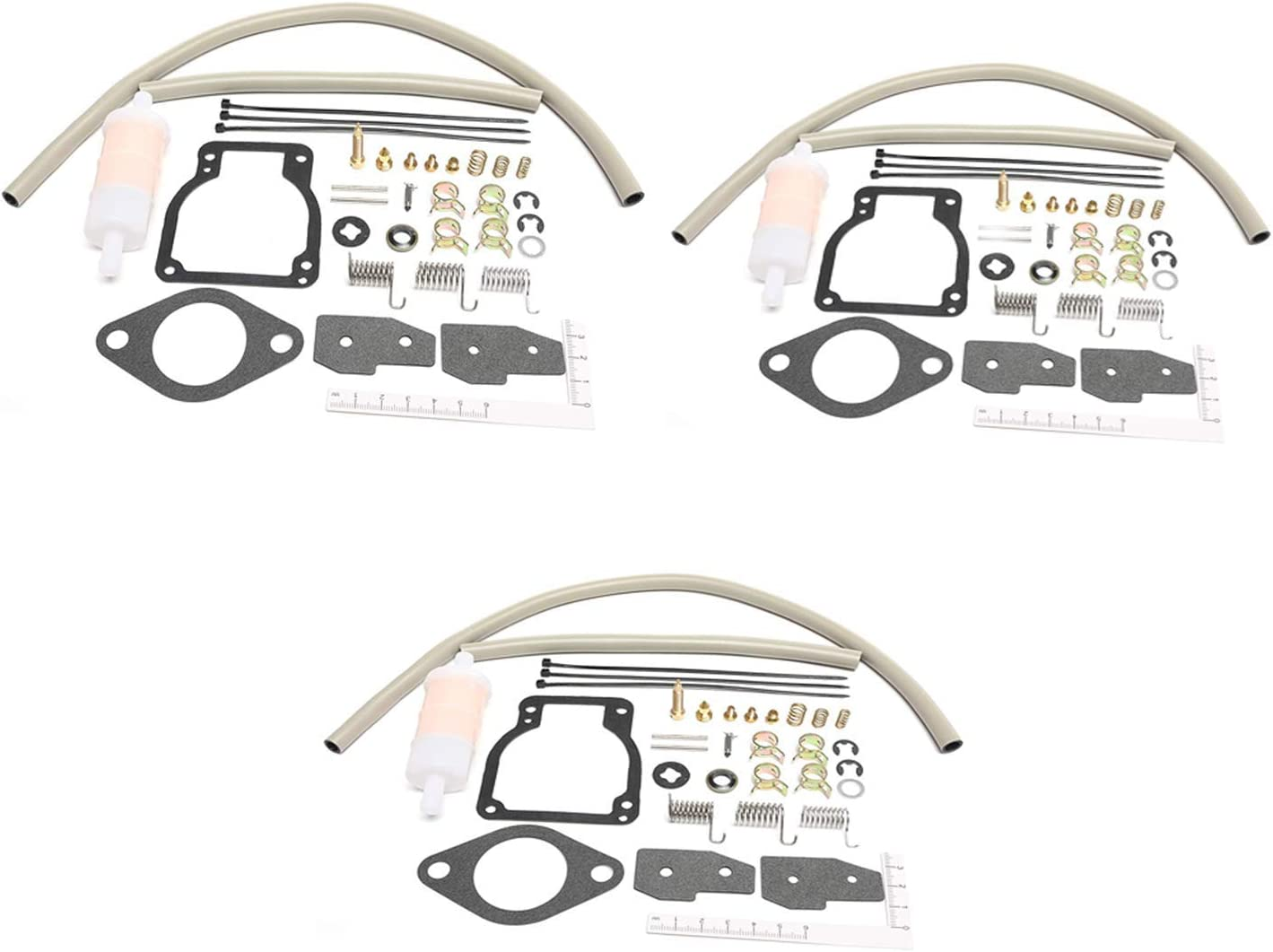 Unepart 18-7750-1 Carburetor Kit For Sierra Mercury Mariner Outboard Motor Replaces 1395-8236354(pack of 3)