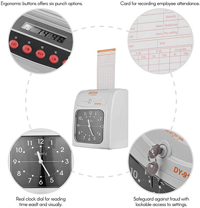 display a colori da 2,8 pollici Orologio biometrico Orologio Esportazione dati USB Pratico sistema di rilevazione presenze 300 Riconoscimento facciale 1000 impronte digitali//password//scheda