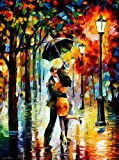 Dance Under The Rain is a VERY RARE ARTIST PROOF (AP) that is artist-embellished, hand-signed and numbered Giclee on Unstretched Canvas by Leonid Afremov. These new Artist Proofs are some of the most amazing pieces we have ever received from Leonid a...