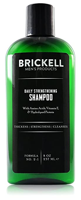 Brickell Mens Products – Champú Fortificante Diario para Hombres – Con Menta y Aceite de Árbol de Té - Natural y Orgánico – 237 ml