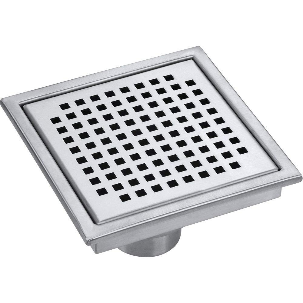Anupam Quadro Square Shower Drain Strainer With Removable Wave Pattern Stainless Steel Square Bathroom Floor Drain Jali With Adjustable Feet Model As 2020 88 200x200x25mm Amazon In Home Improvement
