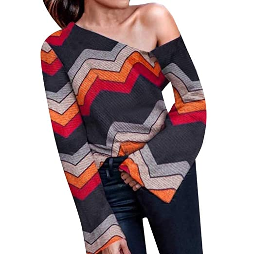Women Girls Knit Off Shoulder Sweater Long Sleeve Sling Strap Blouse Top Professional Design Sweaters Women's Clothing