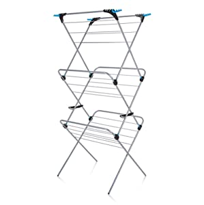 Minky Homecare Trio Concertina Plus Drying Rack, 49', Silver