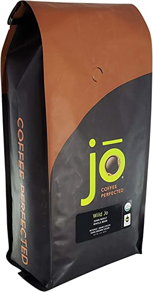 WILD JO 2 lb Fair Trade Organic Dark French Roast Coffee, Whole Bean, Espresso