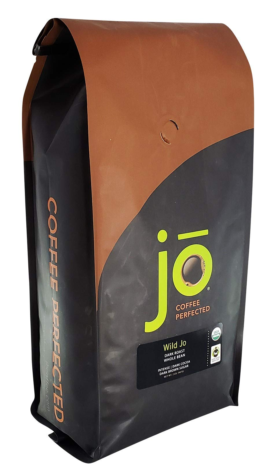 WILD JO: 2 lb, Dark French Roast Organic Whole Bean Coffee, Bold Strong Rich Wicked Good Coffee! Great Brewed or Espresso, USDA Certified Fair Trade Organic, NON-GMO 100% Arabica Gluten Free Coffee