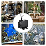 KEDSUM 550GPH Submersible Pump(2500L/H, 40w), Ultra Quiet Water Pump with 8ft High Lift, Fountain Pump with 5.9 ft Grounded Power Cord, 3 Nozzles for Fish Tank, Pond, Aquarium, Statuary, Hydroponics