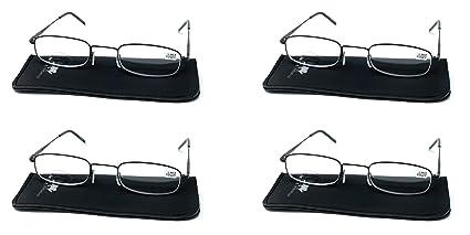 Gafas de lectura, graduadas OFERTA con aspheric lenses (vista ampliada) para mujer y hombre - LR804 colores rosa y negro, varias graduaciones ...