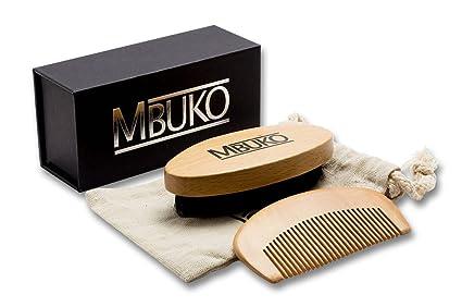 cepillo mbuko Barba y barba peine en Juego – Barba Cepillo con cerdas de jabalí y