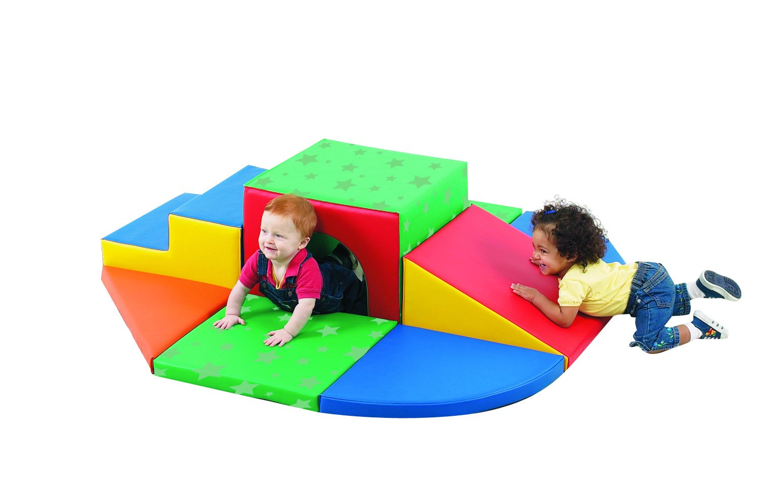 Children's Factory Soft Tunnel Set Indoor Playground for Toddlers Active Play Set for Kids