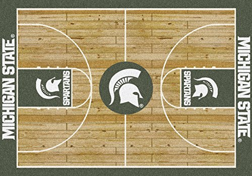 Milliken Michigan State Spartans Basketball Home Court Area Rug (7'8