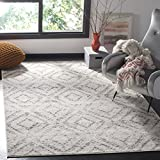 Safavieh Adirondack Collection ADR131C Light Grey Vintage Geometric Area Rug (6' x 9')