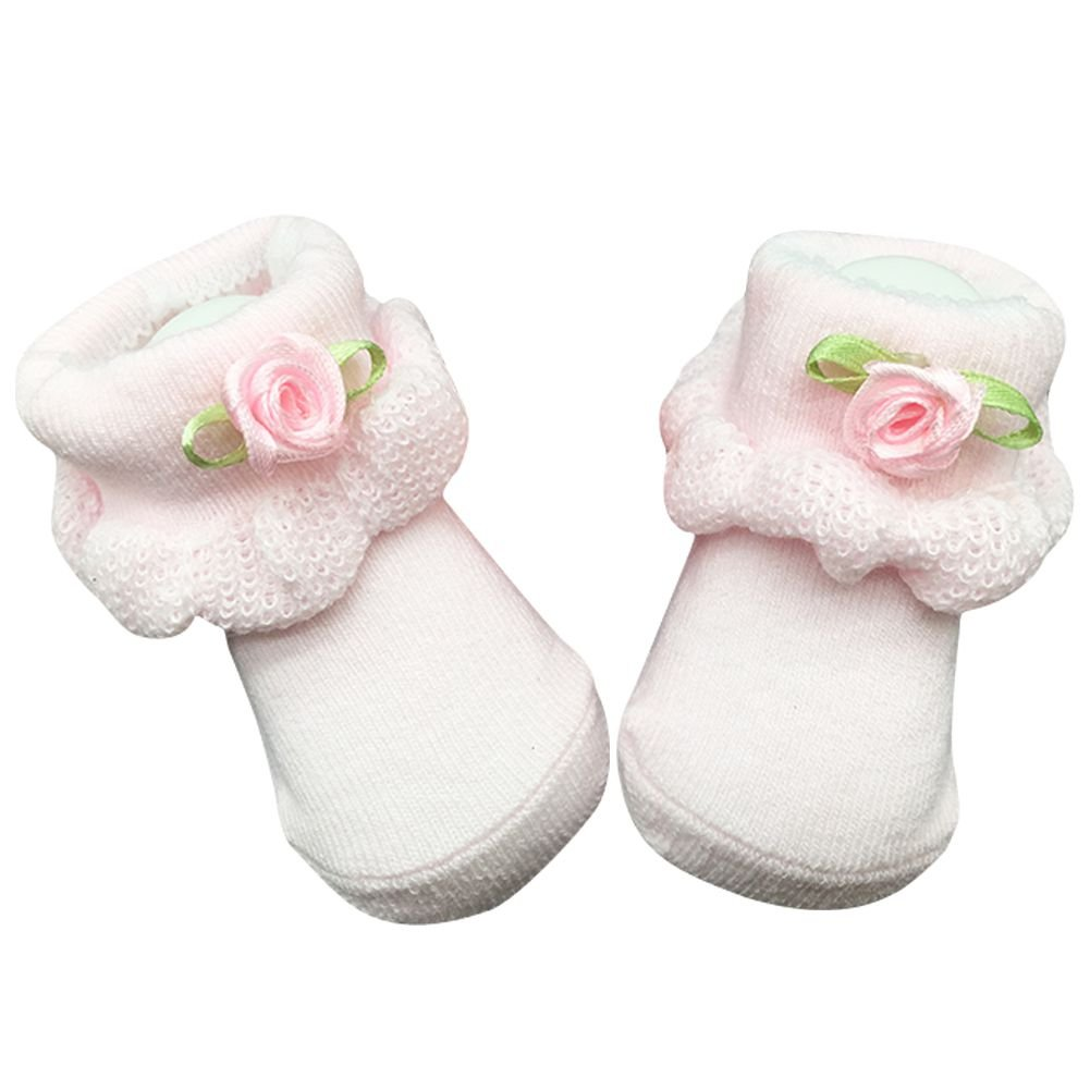 BOBORA Infant Socks Baby Boy Girl Cotton Lace Floral Ruffle Frilly Ankle Fleece Socks Kids Gifts
