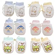Adeimoo Cute Boys Girls Cotton No Scratch Gloves Drawstring Adjustable Mittens for Baby Infants