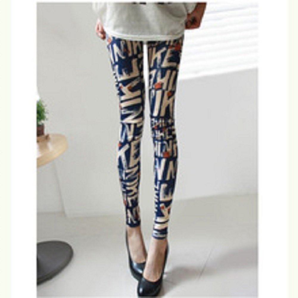 Sheetami Letter Printed Design Leggings Summer Style Soft Skin Material Women Pants