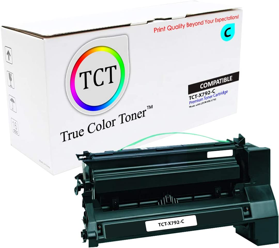 TCT Premium Compatible Toner Cartridge Replacement for Lexmark X792X1CG Cyan Extra High Yield Works with Lexmark X792 Printers 20,000 Pages