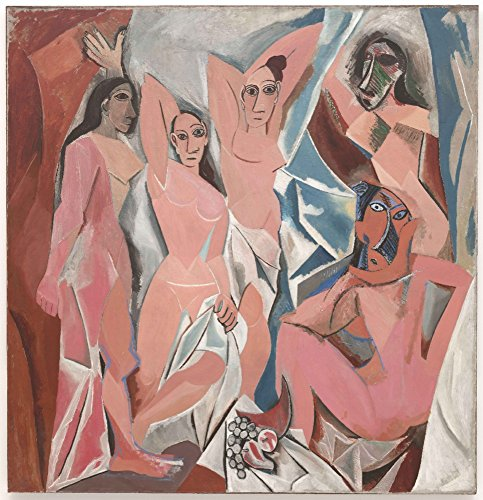 Les Demoiselles d'Avignon - Masterpiece Classic - Artist: Pablo Picasso c.1907 (9x12 Collectible Art Print, Wall Decor Travel (Avignon Wall Lantern)
