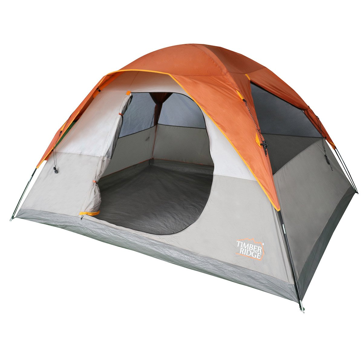 Timber Ridge 6 Person Dome D Door Tent Camping/Traveling Family Tent Portable Rain Fly with Carry Bag 141[並行輸入]   B017B9P9F8