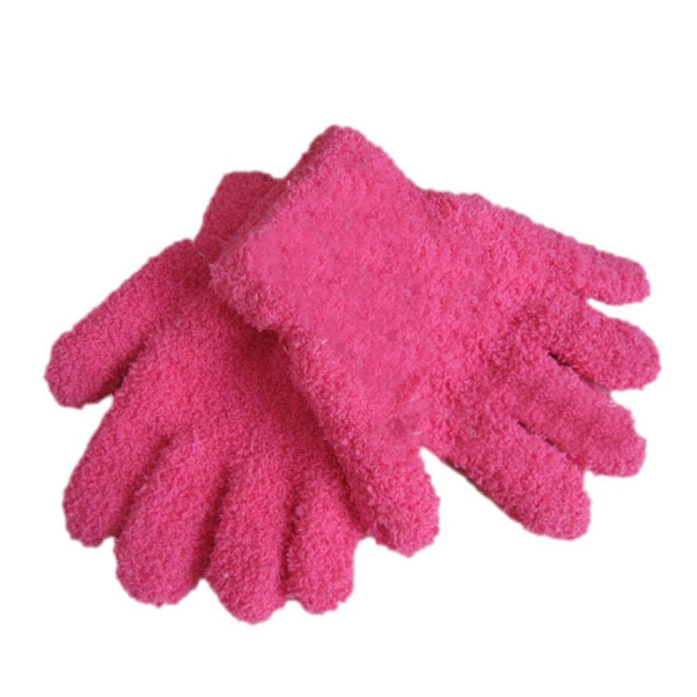 TopTie Kid Soft Knit Glove Blue,S Stretchy and Soft