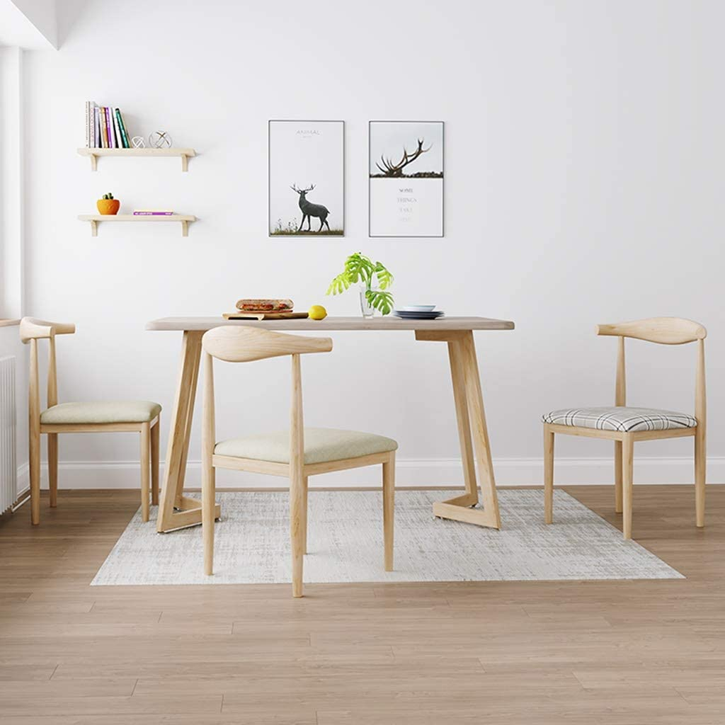Silla WGZ Comedor, Escritorio Simple, Respaldo Creativo, Ocio, hogar for Adultos Comedor Simple (Color : Khaki) Khaki