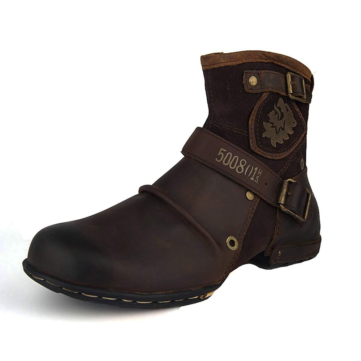 Suetar Echtes Leder Chukka Stiefel für Männer Herbst Herbst Herbst und Winter Mode Zipper-up Stiefeletten Herren Western Freizeitschuhe B07JZTP485  84dc82