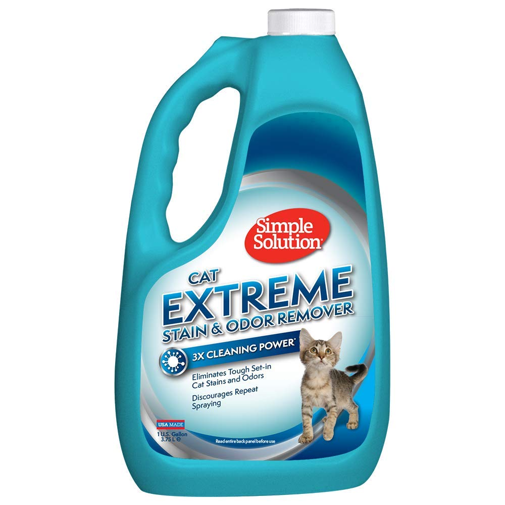 Simple Solution Cat Stain and Odor Remover | Pro-Bacteria and Enzyme Formula | Eliminate Tough Cat Stains and Odors | 1 Gallon by Simple Solution
