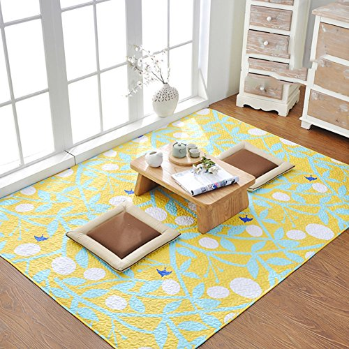 SangreAzul Modern Simple Cotton Rug,Indoor Outdoor Area Rug Durable Small Mat Rectangle Circular Easy Clean Washable Machine Carpet-D 110x210cm(43x83inch)