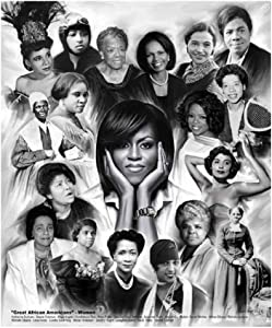Great African American Women by Wishum Gregory, ObamaRiceParksWinfrey (20x24)