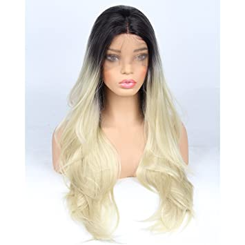 Amazon.com   Life Diaries Ombre Blonde Synthetic Lace Front Wigs For ... f830be197