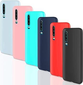 Leathlux [6 Packs Funda Huawei P30, 6 Unidades Carcasas Juntas ...