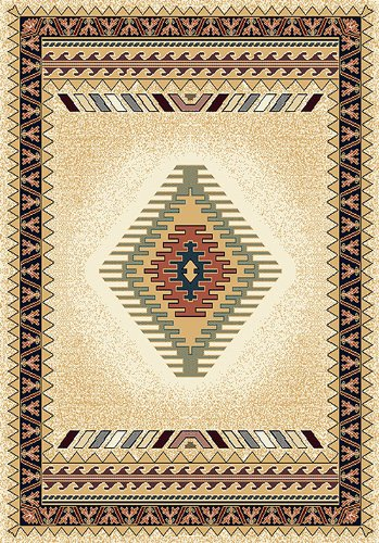 - United Weavers Manhattan Tucson Cream Southwestern Rug 7'10
