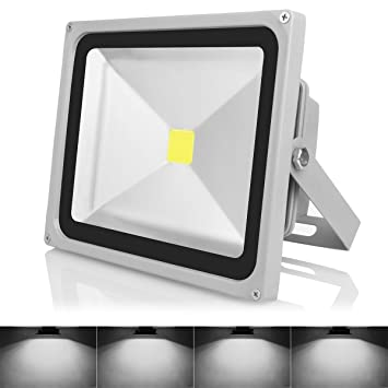Amazon warmoon outdoor led flood light 30w daylight white 6500k warmoon outdoor led flood light 30w daylight white 6500k waterproof security lights with 3 mozeypictures Gallery