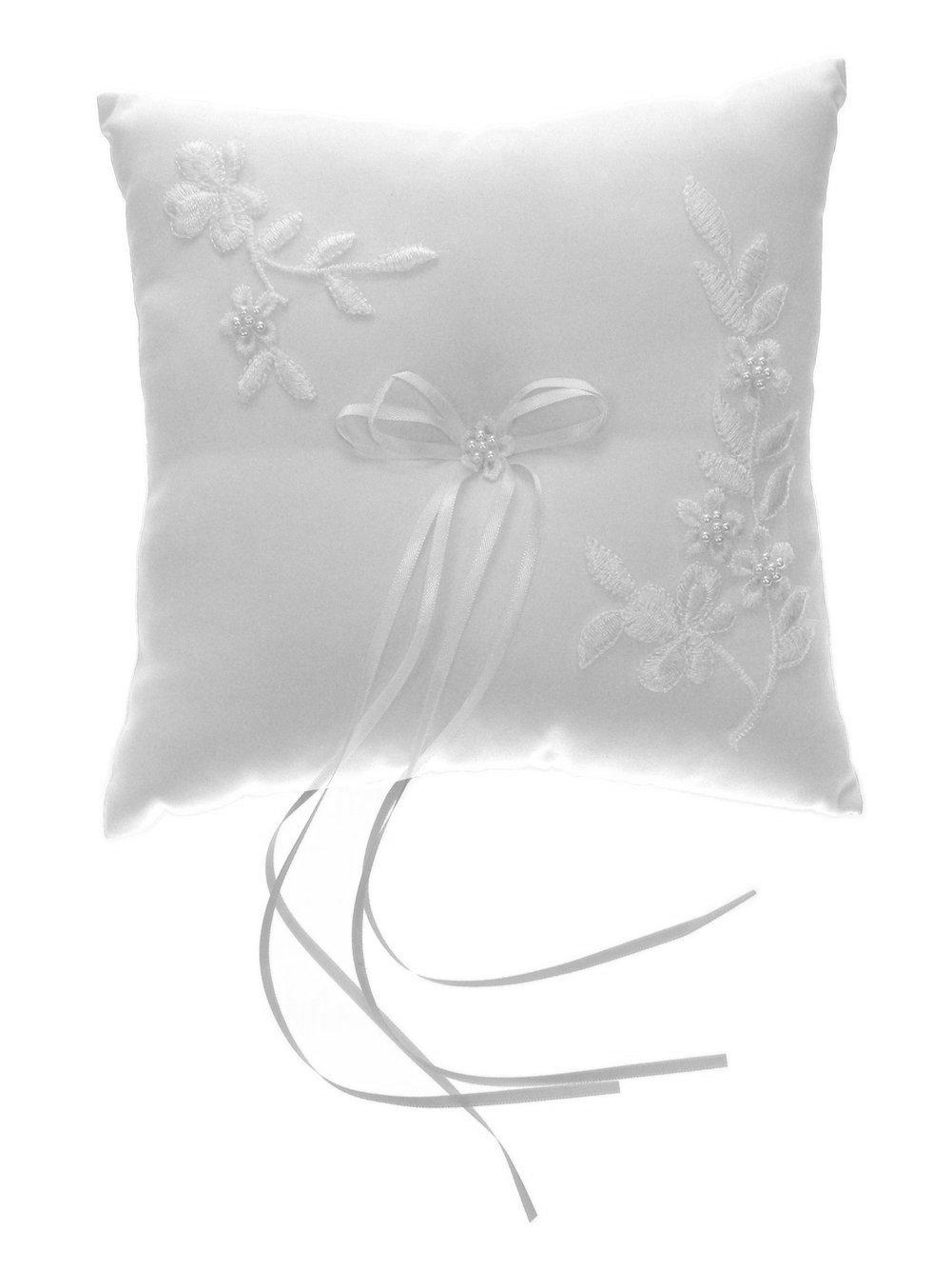 Amazon.com: divadesigns bordado perla Square anillo de boda ...
