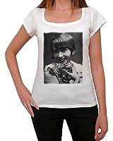 Mistinguett, tee shirt femme, imprimé célébrité,Blanc, t shirt femme,cadeau
