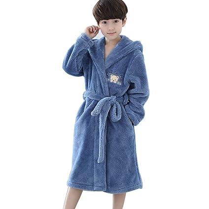 Meng Wei Shop Pijamas Dos Piezas Camisones para niños Batas de baño para niños Pijamas Gruesos