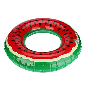 Covermason Hinchables Sandía Forma de Donuts Piscina Playa Flotador (Diámetro: 90cm): Amazon.es: Juguetes y juegos