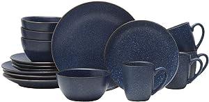 Gourmet Basics by Mikasa Juliana Blue 16-Piece Dinnerware Set, Service for 4 - 5216662
