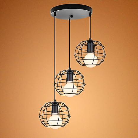 STOEX - Lámpara de techo retro vintage, E27, lámpara de araña ...