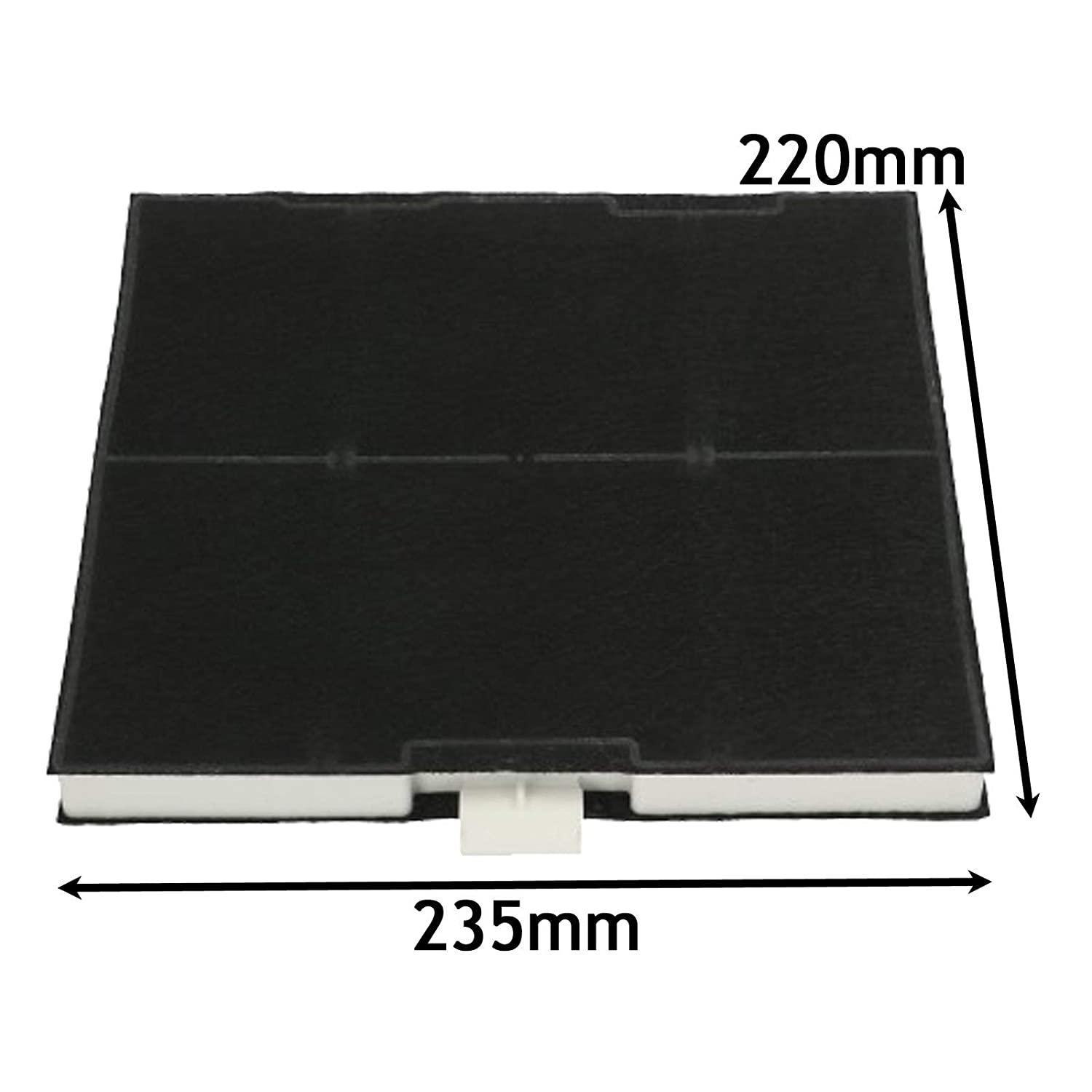 SPARES2GO Anti-Odour Carbon Filter for Neff Cooker Hood (220 x 235 x 21mm)