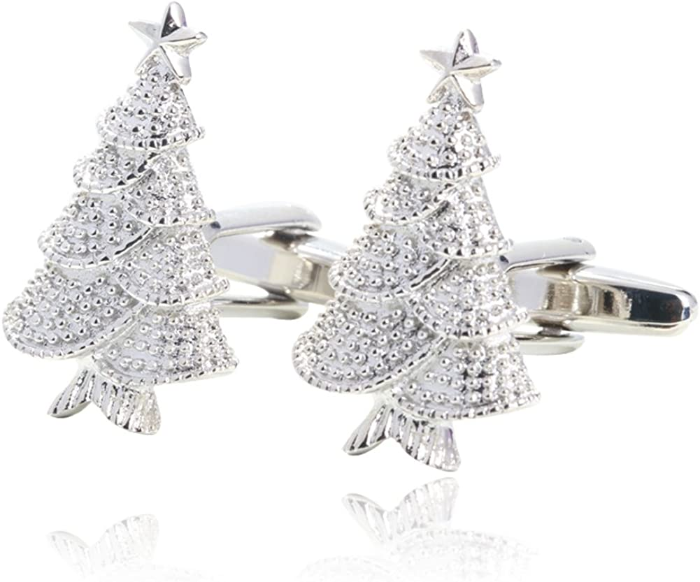Christmas Trees Cufflinks Gift Boxed By Digabi