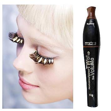 Amazon.com : Waterproof blue purple black green brown mascara charming longlasting makeup (Dark Coffee) : Beauty