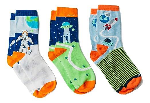 dc2e24b31 Organic Mismatched Colorful Socks for Women, Cool Space Socks, Premium  Organic Cotton Womens