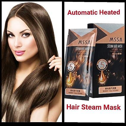 Mascarilla de vapor caliente para el cabello con queratina ...