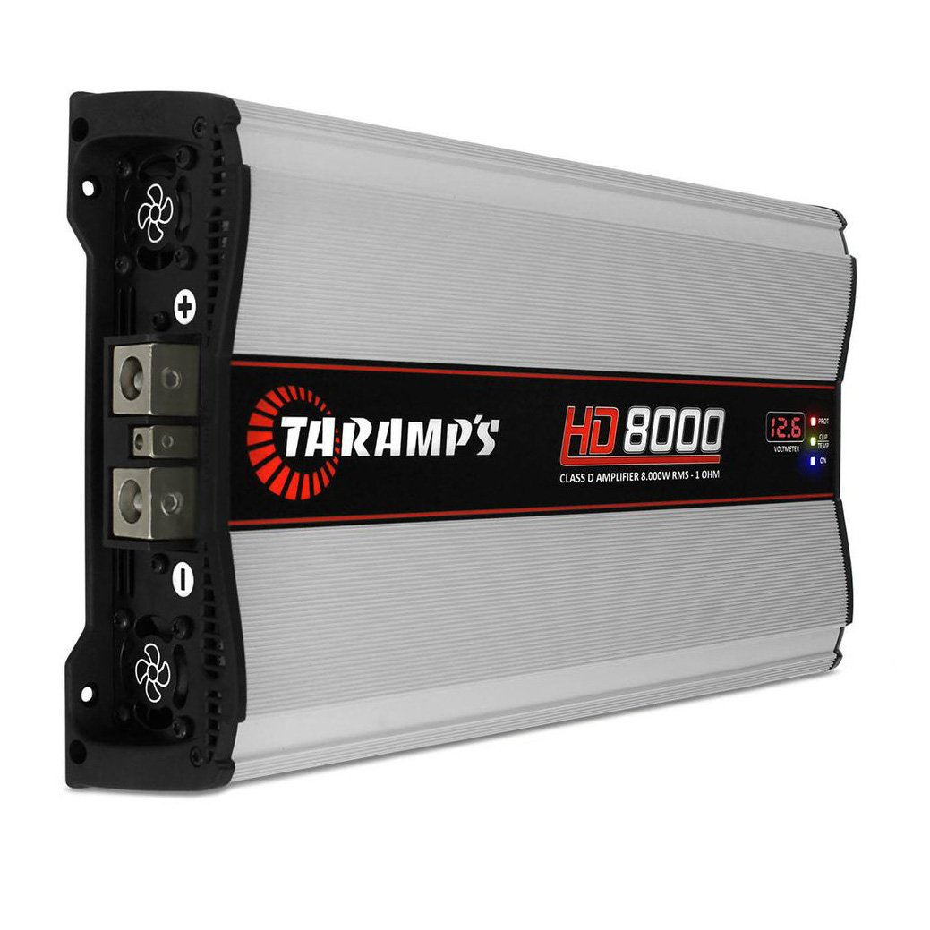 Amazon.com: New Taramps HD8000 HD 8000 Watt 12.6V 2 Ohm Car Audio Competition Amplifier/Amp: Car Electronics